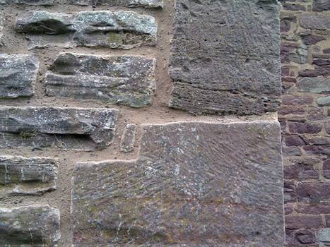 An example of a lime based mortar mix used for stone pointing.