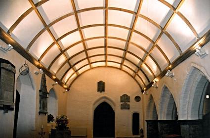 The new barrel-vault ceiling.