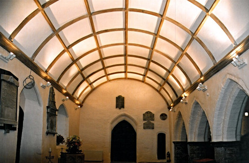 The new barrel-vault ceiling.