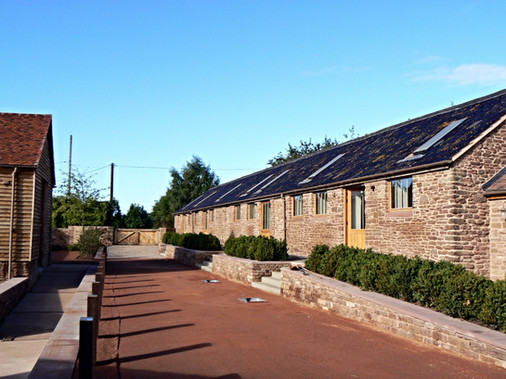 A view of the converted stables