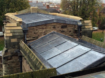 The new leadwork on this section of a cathedral roof will keep it watertight for many years to come.