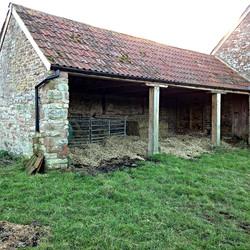 Side barn before
