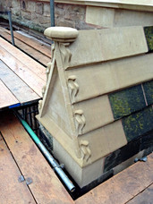 Replacement stonework at Hereford Cathedral.
