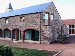 The brick arches and stone elevations of the granary were repaired and re-pointed.