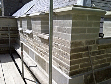 Stone repairs and replacements completed by our experieced stone masons.