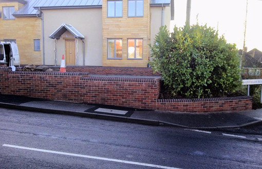 A brickwall finishes off the exterior of this new build.