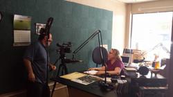 filming in the studio