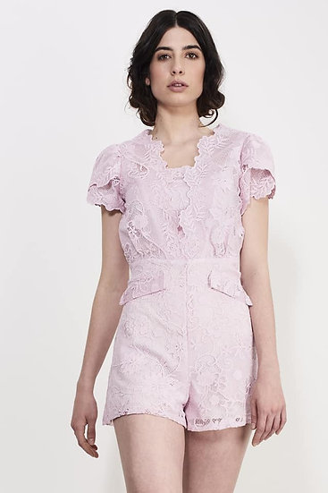 Lilac Lace Play-suit Extra Small