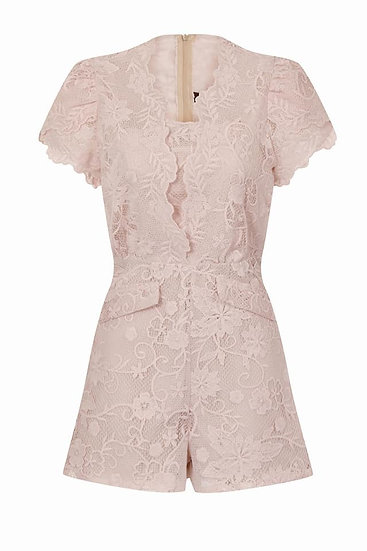 Cream Lace Play-Suit - Small