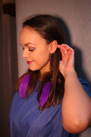 Purple Twist Wire Earings