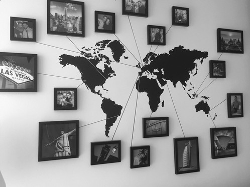 Waterproof world map mural removable vinyl decal wall waterproof better able to decorate the house specification materialspvc size10560cm colorblack package 1 x world map wall sticker gumiabroncs Choice Image