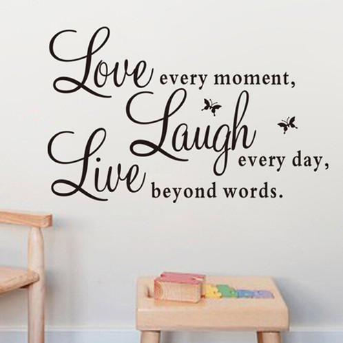 High Tech/Durable Quote Wall Art Sticker Live Love Laugh Home Vinyl  Transfers Decals Graphics Welcome To Trading Center,Our Goal Is To Provide  High Quality ...