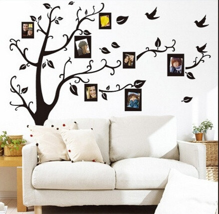 Removable Living Room Tree Bird Wall Stickers Art Decal - Wall stickers art