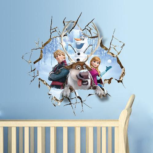 3D Wall Stickers Decal Bedrooms Frozen Mural
