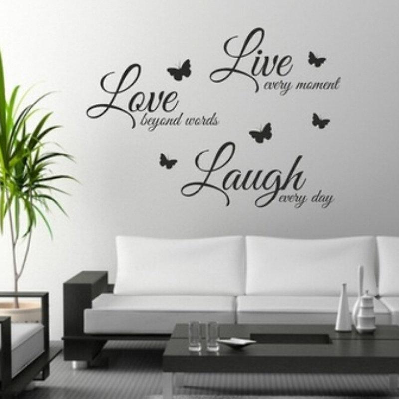 Marvelous Quote Wall Art Sticker Live Love Laugh Home Vinyl Part 16