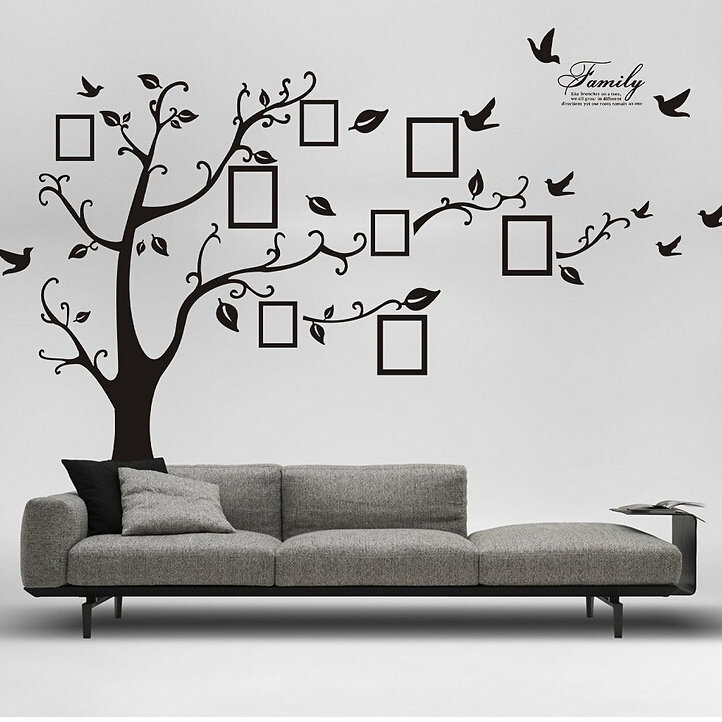 Removable Living Room Tree U0026 Bird Wall Stickers Art Decal