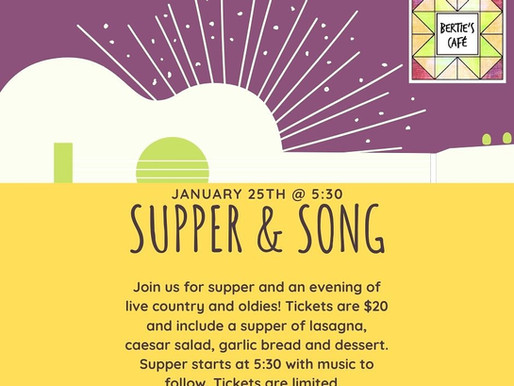 Supper and Song - SOLD OUT!