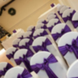 Chair covers and bows _#wedding #acswedd