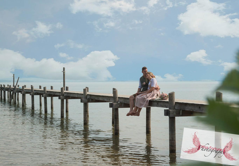 Chiemsee Hochzeit am Steg