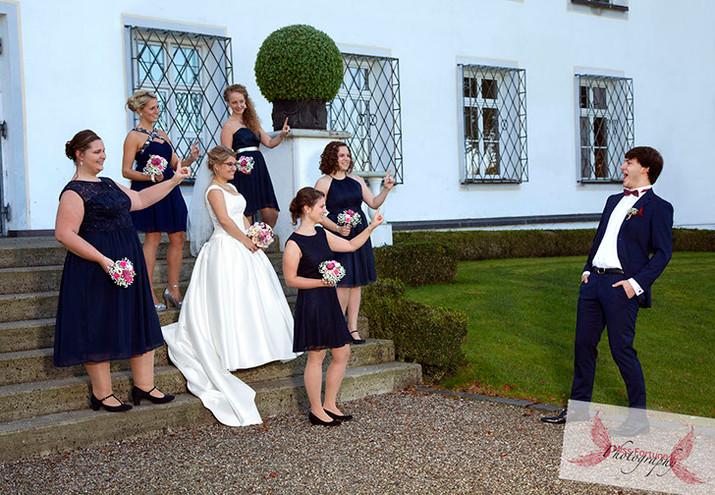 lustiges Hochzeitsshooting