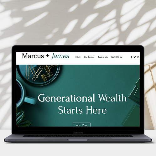 Marcus + James Wix Website Template