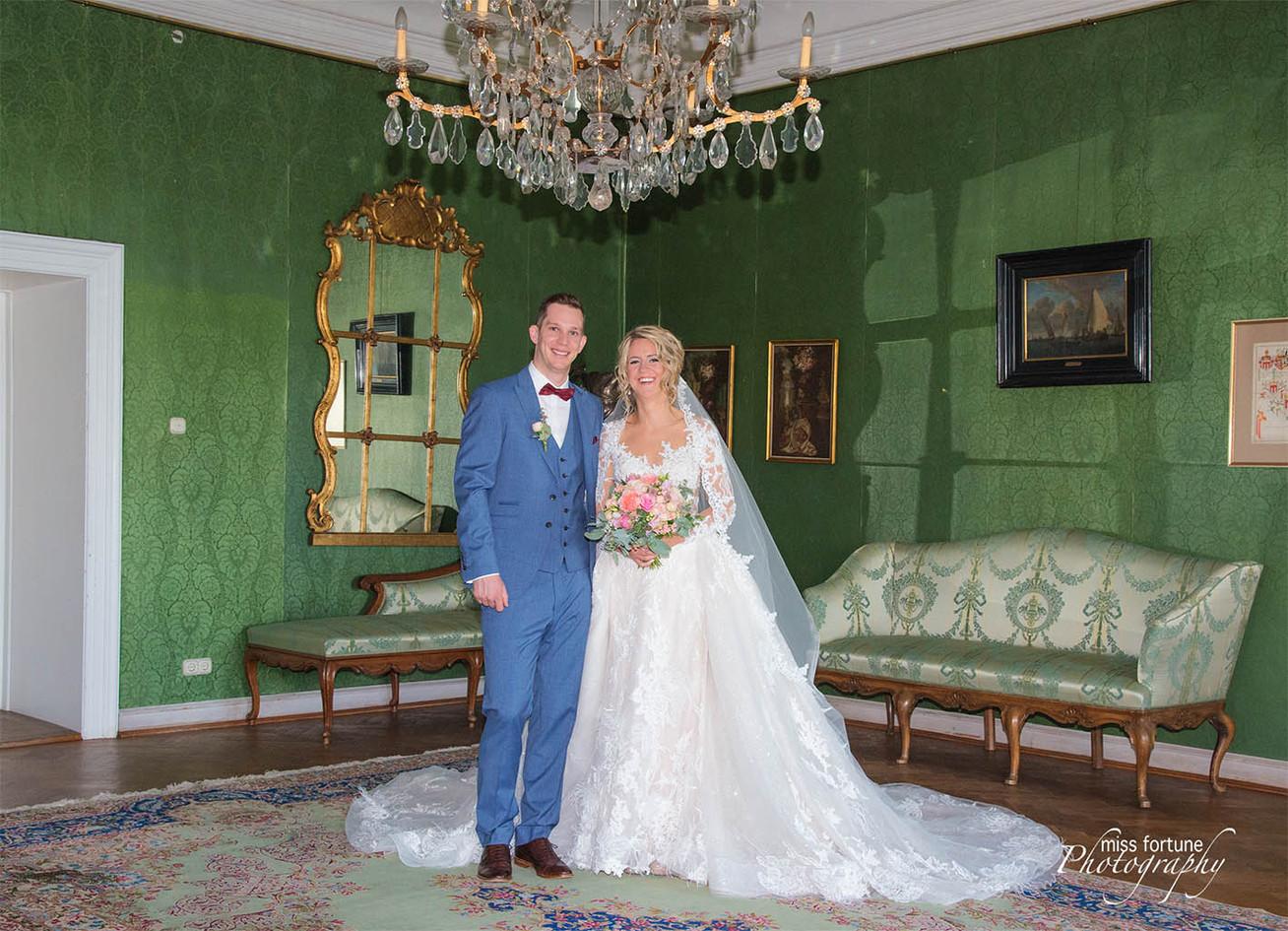 Hochzeitsshooting im Schloss
