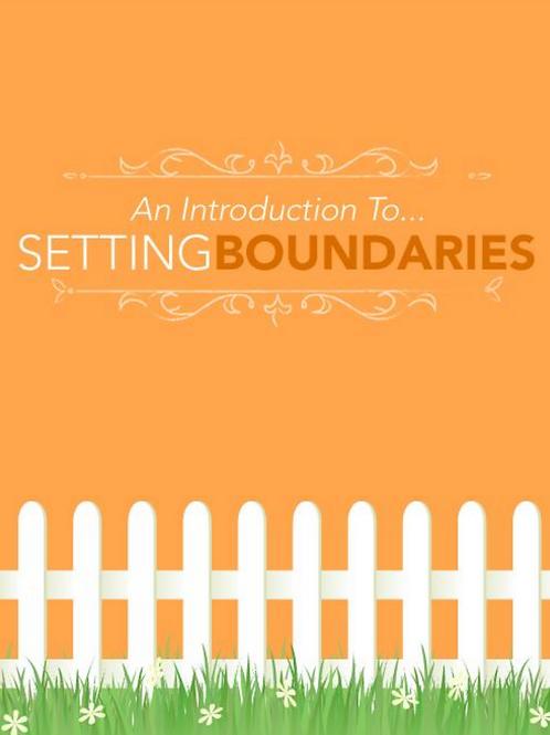 Setting Boundaries Ebook