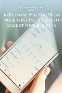an image of a cell phone showing Instagram anayltics support that there are 10 reasons why you need more than Instagram to market your business