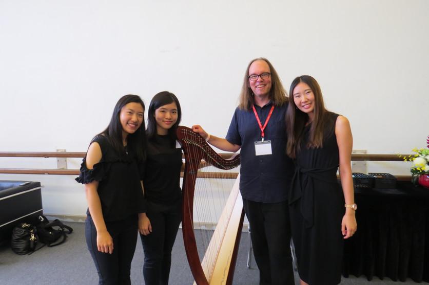 香港 豎琴 演奏級 老師 趙涴琪 Rachel Chiu with Jazz Harpist