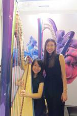 香港 豎琴 演奏級 老師 趙涴琪 Rachel Chiu with harp student