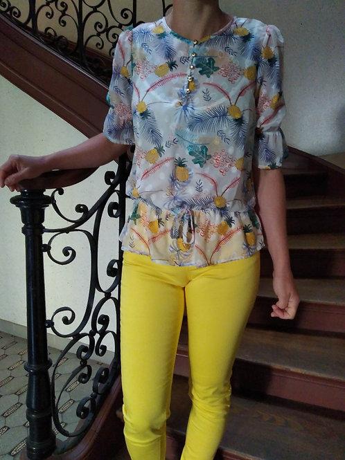 Pantalon jeggin coton  yellow  Gaudi