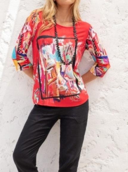 Tee shirt manches 3/4 nadine Maloka