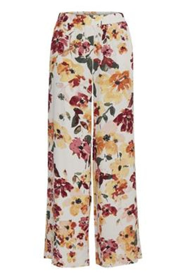 Pantalon ample motif fleurie ICHI