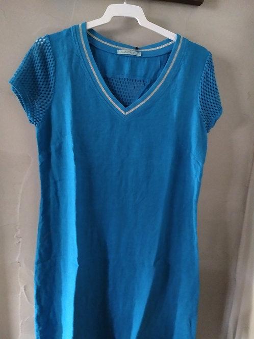 Robe lin bleu celeste RAESSA Maloka