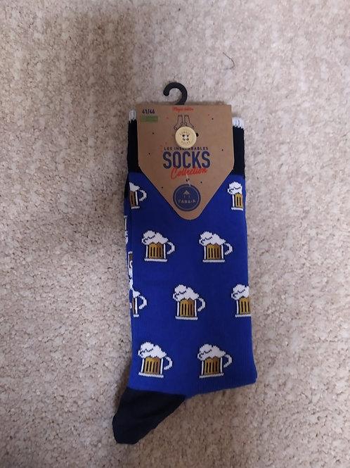 Chaussettes hommes bière CABAIA