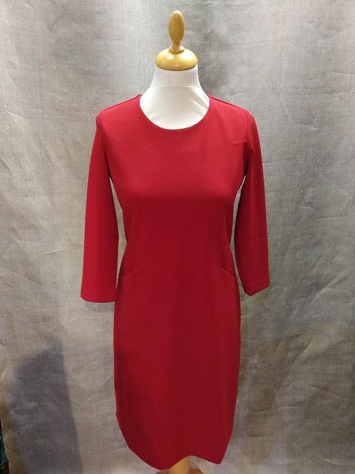 Robe jersey rouge   La Fée Maraboutée