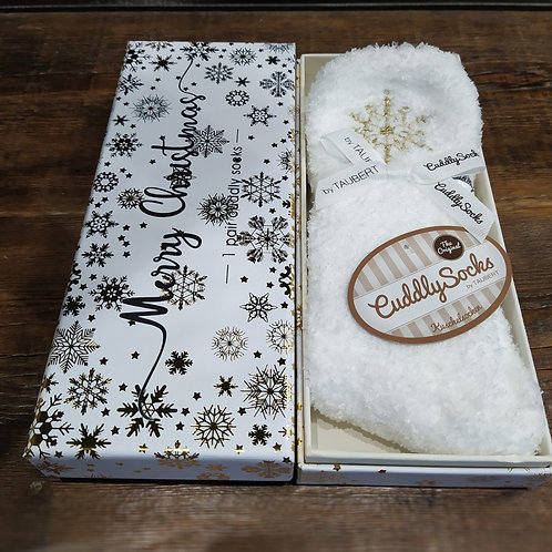 """Socks in box"" chaussettes blanches pilou de la marque Taubert"