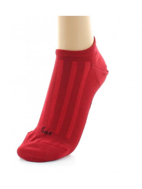 Socquettes Soie Rouge Berthe aux grands pieds