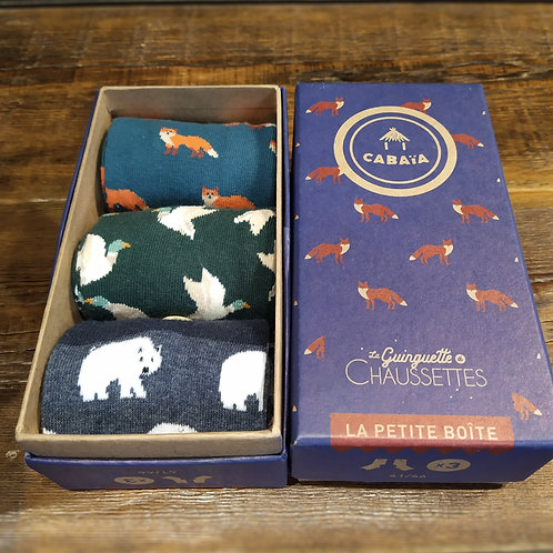 Packs 3 chaussettes hommes Animal Lover CABAIA