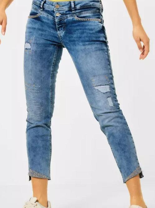 Jeans coupe décontracté avec clous  Street one