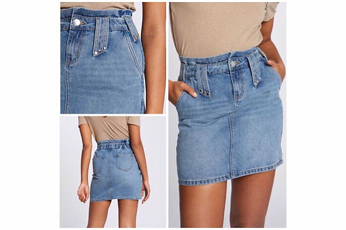 Jupe jeans taille haute Morgan
