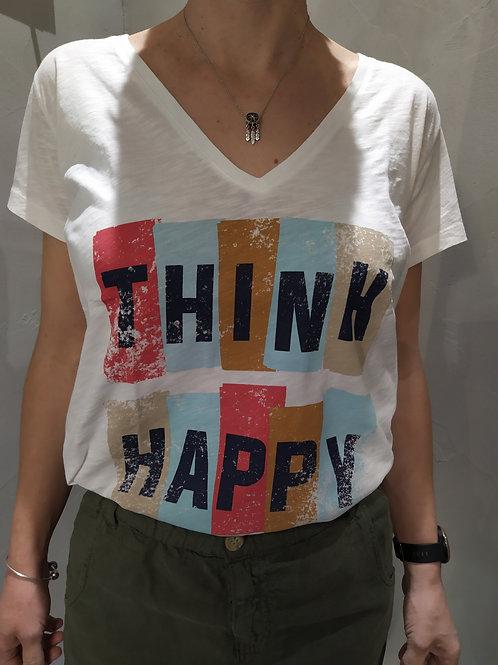 Tee shirt Think HAPPY
