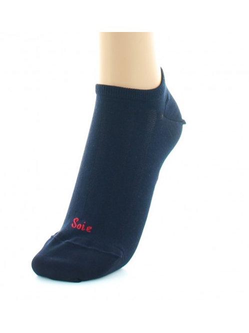 Socquettes Soie Marine Berthe aux grands pieds