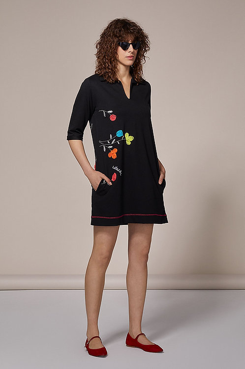 Robe tee shirt marine fleurie Lolitas &L
