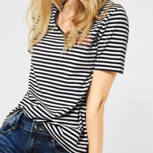 T-shirt avec rayures marine Street one
