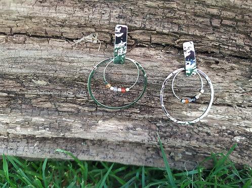 Boucles d'oreilles 2 anneaux