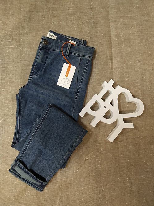 Pantalon slim cigarette Denim KIND , HAPPY