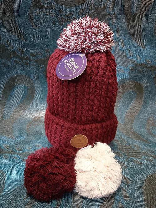 Bandista burgundy 1 Bonnet +3 pompons CABAIA