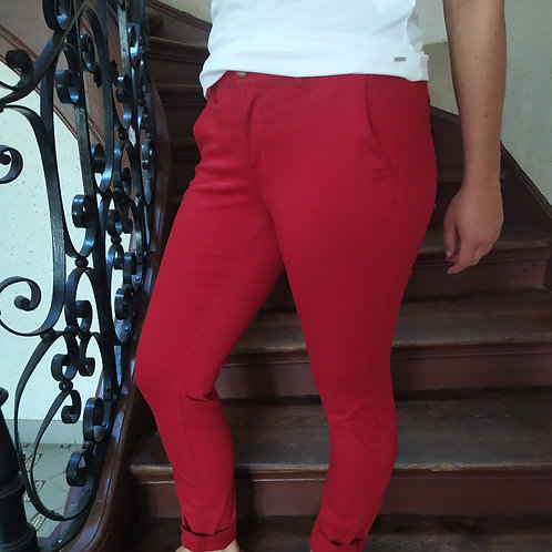 Pantalon slim cigarette rubis JOY, HAPPY