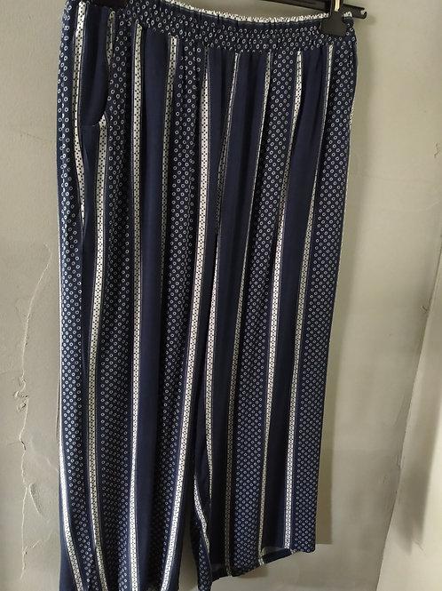 Pantalon fluide imprimé taille élastique CISO